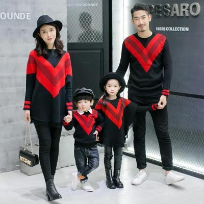 親子裝秋裝2019新款潮全家裝母女母子裝韓版針織洋氣一家三口毛衣