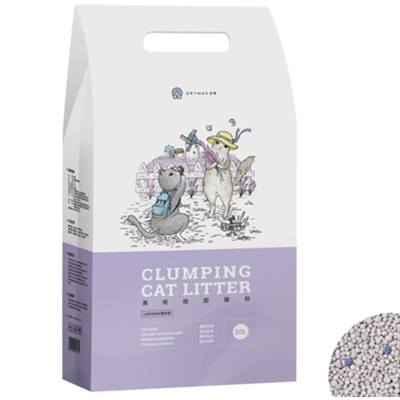 潔客(Drymax)潔客膨潤土貓砂寵物用品薰衣草貓砂結團10L