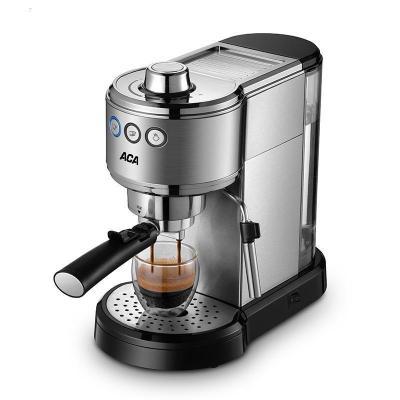 ACA北美電器E10D咖啡機家用小型意式半全自動商用蒸汽奶泡機一體