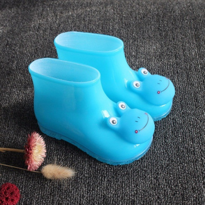 小童卡通兒童雨鞋男女時尚4雨靴加絨1-2-3歲寶寶水鞋防滑塑料膠鞋 莎丞