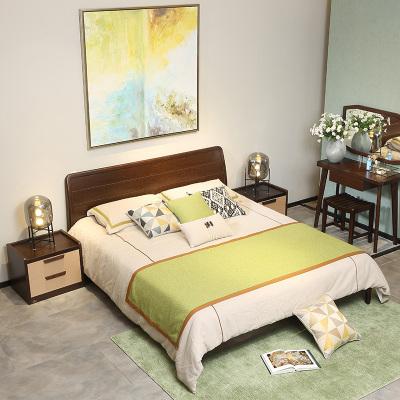 A家家具床1.5米雙人床1.8米現代中式架子床簡約經濟型板式高箱床木質其他C002