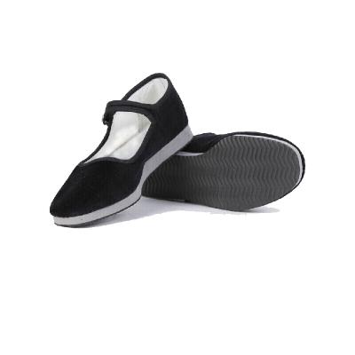 民间舞鞋平底鞋黑绒布鞋胶州秧歌鞋泡沫底鞋舞蹈练功鞋 黑色升级款(特殊脚型拍大一码) 标准码