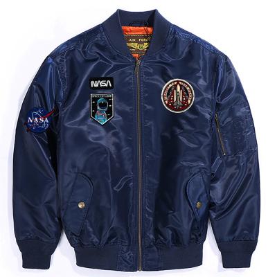 Luxury Lane男士春秋單款MA1空軍飛行夾克印花外套NASA款