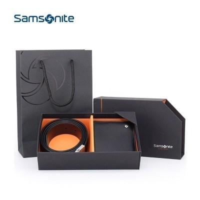 新秀麗(samsonite)男士皮帶中青年腰帶錢包+皮帶二件套禮盒 TK2