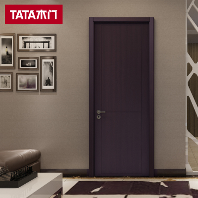 TATA木门 简约室内门 卧室门实木复合门 套装门 全屋定制木门@003
