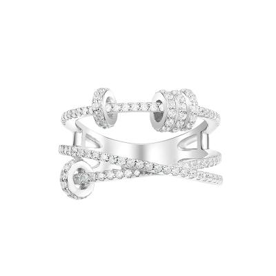 APM Monaco時來運轉戒指女時尚個性食指S925銀戒指銀飾品首飾A17574OX