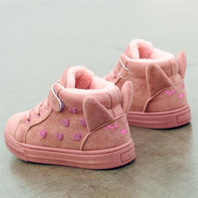 童鞋女童鞋秋冬季2019新款小女孩鞋子兒童二棉鞋加厚冬鞋加絨棉鞋
