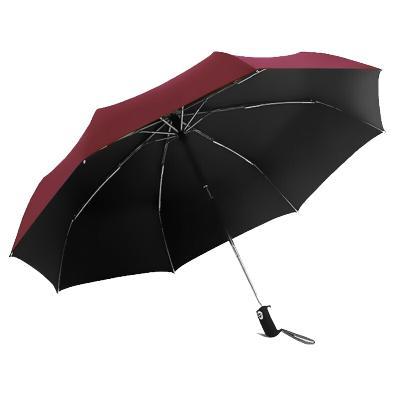 天堂 3331E黑膠升級款自開收三折商務遮陽傘晴雨傘