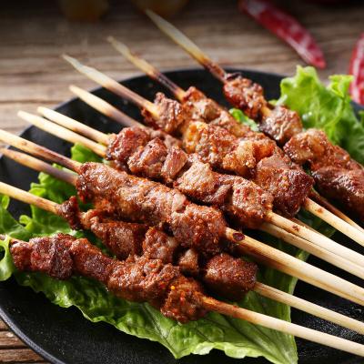 咩小鮮 家庭羊肉串250g /袋*2袋 500g(40串) 內蒙古羊肉串 內贈燒烤料 精選羊腿肉 三瘦一肥燒烤食材