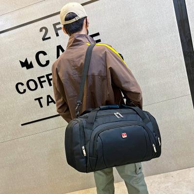 大容量單肩手提旅行包男女行李包斜跨旅行袋短途旅游健身包登機包