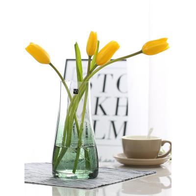 玻璃花瓶擺件客廳插花歐式鮮花百合富貴竹干花小清新透明北歐簡約