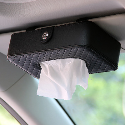 年底沖量價 車蜜蜂CMF111汽車內飾用品車載車用紙巾盒 吸頂紙巾盒 汽車創意遮陽板掛式紙巾盒 天窗椅背抽紙盒