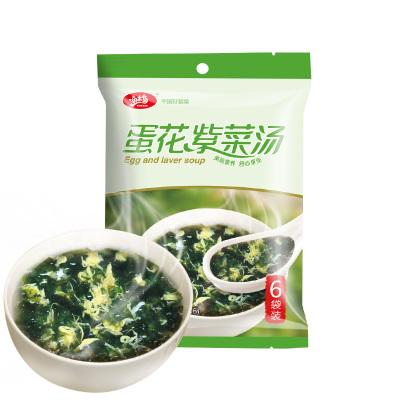 漁禾島 速食熟紫菜蛋花湯速溶沖泡即食小包袋66g 內附調料包