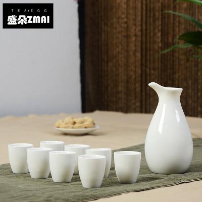 陶瓷酒具套裝青瓷溫酒壺傳統中式家用小酒杯子酒盅白酒汾酒器-asf02