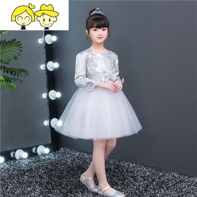 元旦儿童大合唱团演出服中小学生朗诵礼服女童舞蹈蓬蓬纱裙舞蹈服