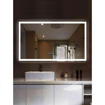 顧致智能浴室鏡壁掛衛生間鏡子LED燈鏡洗手間衛浴鏡子防霧帶燈光