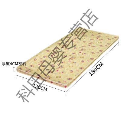 椰棕床垫1.2米棕垫单人双人学生儿童天然硬棕榈垫加厚折叠床垫90应学乐 宽120cm-长180cm-厚4cm 其他