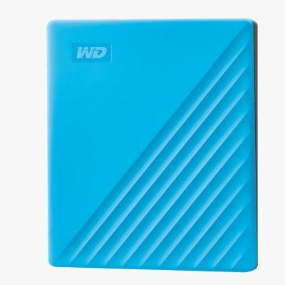 西部數據(WD)2TB USB3.0移動硬盤My Passport隨行版 2.5英寸 藍色WDBYVG0020BBL