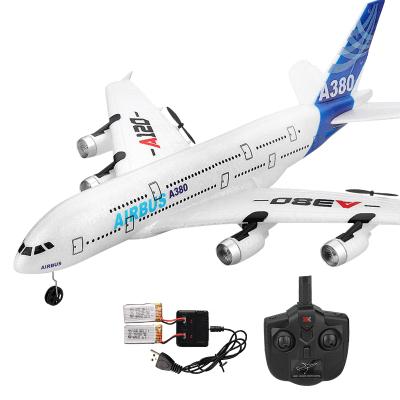 【24小時內發貨】Dwi無人機航模飛機玩具遙控飛機大型耐摔滑翔機戶外超大高速泡沫電動固定翼空中客車A380 雙電池贈多充