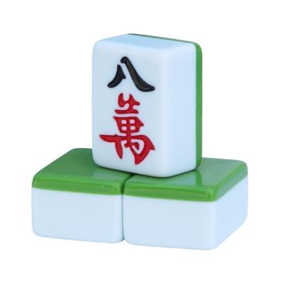 闪电客一级品家用麻将牌_大号手搓墨绿色40_42mm38中号送皮革桌布