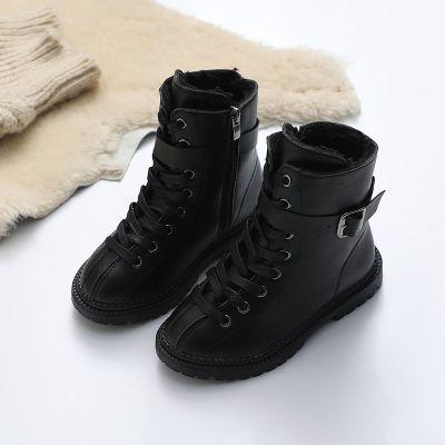 兒童馬丁靴秋冬季新款男童棉鞋加絨大棉女童鞋子小女孩短靴子劉家琦