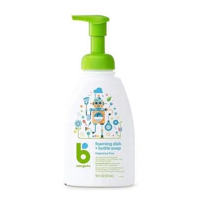 美国进口甘尼克(BABY GANICS)奶瓶清洗剂/婴儿洗奶瓶液清洗液/果蔬清洁剂 473ml 瓶装