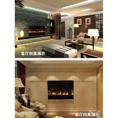 霧化壁爐芯智能電壁爐閃電客鑲嵌入式裝飾電子3D火焰家用加濕器電視柜2