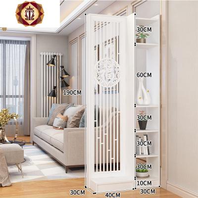 屏風隔斷客廳小戶型簡約現代裝飾墻創意入戶鏤空置物架進玄關柜