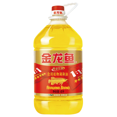 金龙鱼 黄金比例食用调和油 4L 食用油调和油