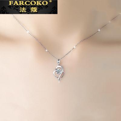 法蔻珠寶輕奢品牌銀鍍鉑金項鏈女鎖骨鏈簡約氣質潮網紅小眾設計七夕情人節送女友