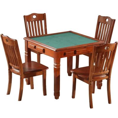 麥德嘉 方桌 實木麻將桌 餐桌兩用