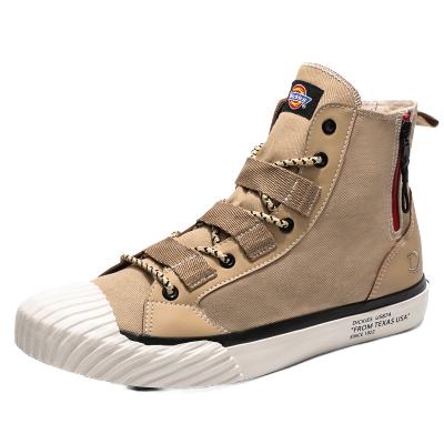 Dickies高幫帆布鞋女春季新款韓版百搭學生板鞋圓頭系帶休閑鞋子191W50LXS04