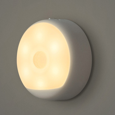 Yeelight充电感应夜灯光控LED小夜灯智能人体感应灯婴儿喂奶灯起夜灯床头灯可挂可贴可磁吸
