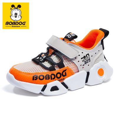 BOBDOG HOUSE巴布豆童鞋兒童運動鞋2020夏款男童休閑鞋時尚網面透氣女童鞋2211