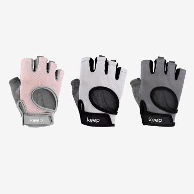 Keep立體掌墊健身手套訓練手套騎行防滑耐磨半只手套男女通用