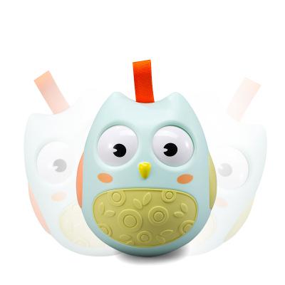 澳樂嬰兒玩具不倒翁點頭娃娃3-6-9-12個月寶寶0-1歲安撫玩偶玩具藍色