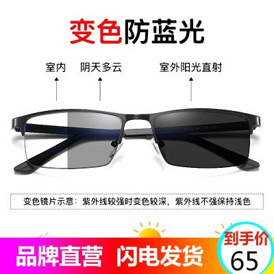 代利斯感光變色防輻射防藍光防近視平光眼鏡框男女款通用款玩手機電腦電競保護眼睛護目鏡8812A
