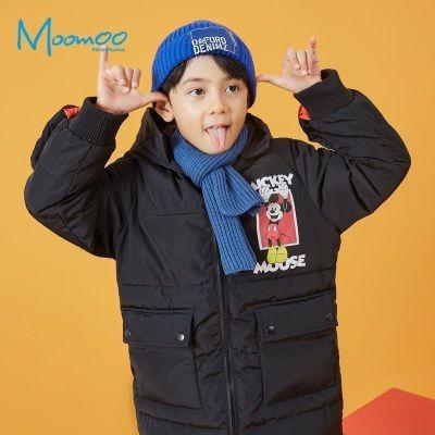 【2件2.5折價:124.8】moomoo童裝男童棉服新款冬季迪士尼洋氣潮中大兒童中長款棉衣