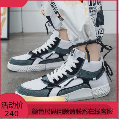 鞋子男潮鞋百搭中帮潮流板鞋高邦鞋社会小伙运动街舞高帮鞋男