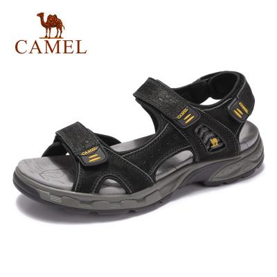 Camel骆驼男鞋2019夏季新款户外耐磨轻便舒适缓震皮凉鞋旅行休闲沙滩鞋
