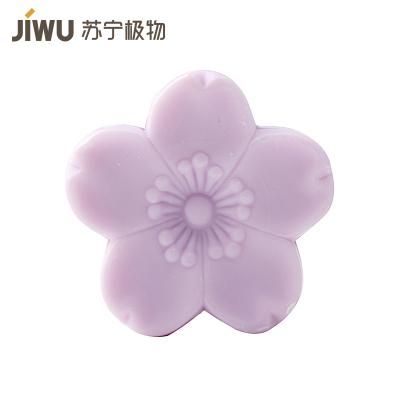 苏宁极物 日本制造樱花精油皂 罗兰紫