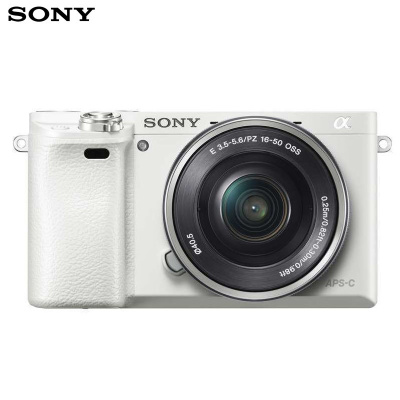 Sony 索尼 Alpha 6000 高清數碼微單 A6000L 入門單反相機 白色(約2430萬有效像素 16-50鏡頭)