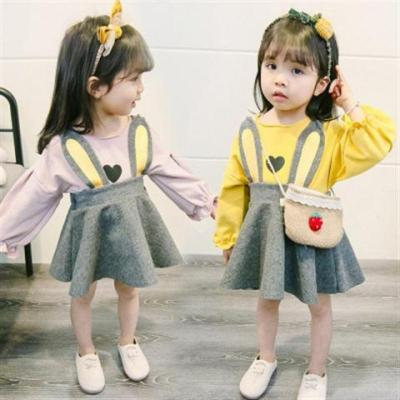 mk narde2019婴幼儿公主裙纯棉连衣裙0-1-3岁女宝宝裙子女童春装两件套裙
