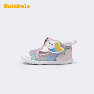 巴拉巴拉官方童鞋嬰兒鞋子軟底女寶寶學步鞋防滑多彩2020新款春秋
