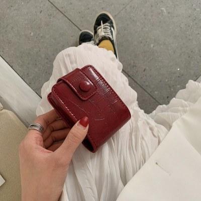 迷你帶鏡子口紅包小號便攜隨身補妝 口紅收納盒便攜 口紅包收納包