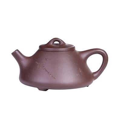 紫泥子冶石瓢宜興紫砂壺全手工企業手把泡沏茶壺器功夫茶具
