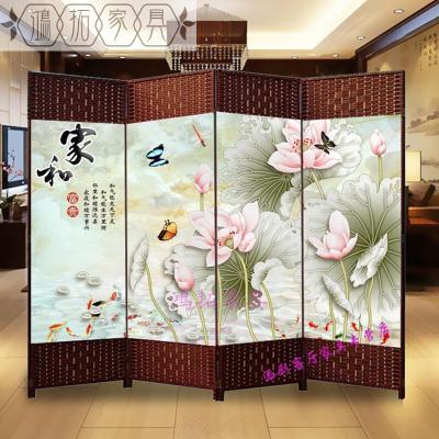 (MeisiLaiDeng)簡易屏風隔斷客廳折屏簡約現代中式雙面房間玄關布藝折疊移動試衣家具