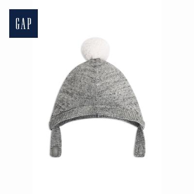 Gap嬰兒護耳帽子473836 可愛毛球裝飾
