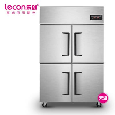 樂創 (lecon)商用四門冰柜 立式廚房髙身雪冷藏冷凍保鮮高柜 雙壓縮機冰箱 雙溫LC-J-SM03