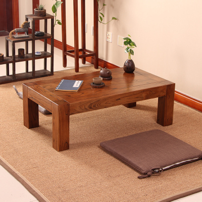 梦引 老榆木茶几实木仿古茶桌榻榻米茶几日式炕桌飘窗茶几地台小矮桌